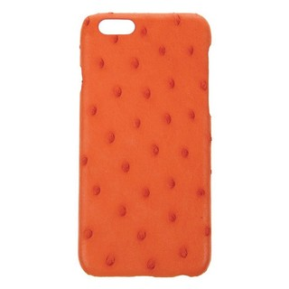 Coque Luxe Véritable Autruche iPhone 6/6s Orange Hadoro