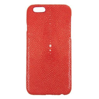 Coque Luxe Véritable Galuchat iPhone 6/6s Rouge Hadoro