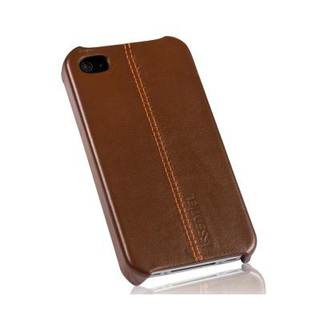 "Coque Apple iPhone 4 / 4S cuir ""Pure"" Chocolat Nappa"