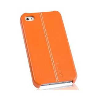 "Coque Apple iPhone 4 / 4S cuir ""Pure"" Orange Nappa"
