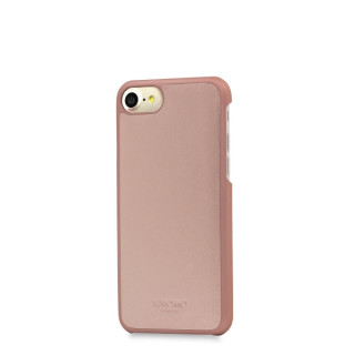 Coque Apple iPhone 7/8 Knomo Snap-On Cuir Rose Doré