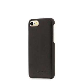 Coque Apple iPhone 7/8 Knomo Snap-On Cuir Noir