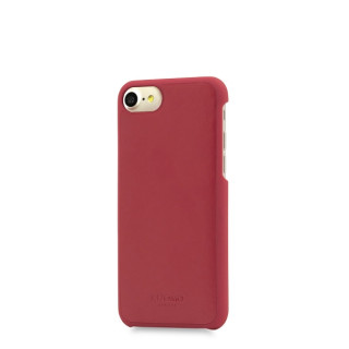 Coque Apple iPhone 7/8 Knomo Snap-On Cuir Rouge