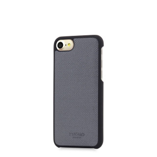 Coque Apple iPhone 7/8 Knomo Snap-On Cuir Gris
