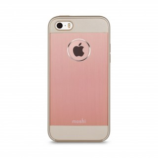 Coque iPhone 5/5S/SE iGlaze Armour Aluminium Or Rose Moshi