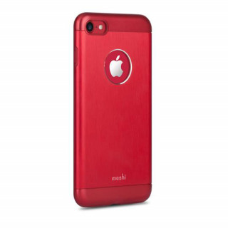 Coque iPhone 7/8 iGlaze Armour Aluminium Moshi Rouge