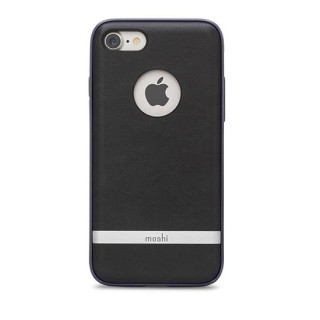 Coque iPhone 7 Plus/8 Plus iGlaze Napa Moshi Noir