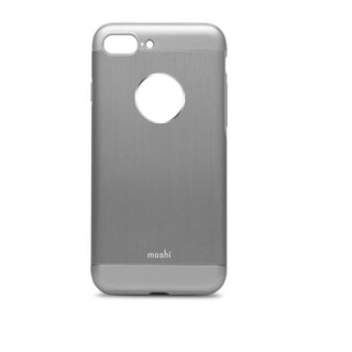 Coque iPhone 7 Plus/8 Plus iGlaze Armour Aluminium Moshi Gris Anthracite
