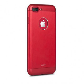Coque iPhone 7 Plus/8 Plus iGlaze Armour Aluminium Moshi Rouge