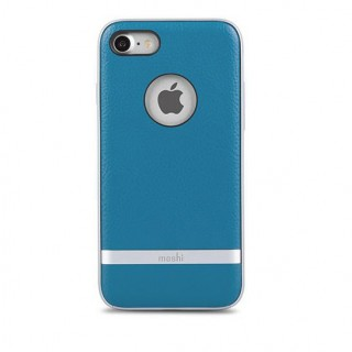 Coque iPhone 7 Plus/8 Plus iGlaze Napa Moshi Bleu