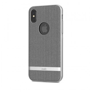 Coque iPhone XS/X Vesta Moshi Gris Chevron