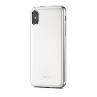Coque iPhone XS/X Moshi iGlaze Armour Blanc Perlé