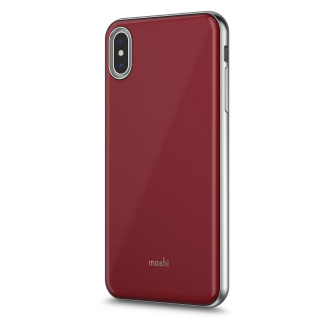Coque iPhone XS Max Moshi iGlaze Rouge Merlot