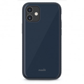Coque iPhone 12 Mini Moshi iGlaze Bleu