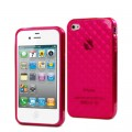 "Coque Minigel Apple iPhone 5 Muvit ""Damier"" transparente rose"