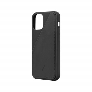 Coque Apple iPhone 12 Mini Clic Card Native Union Cuir Noir