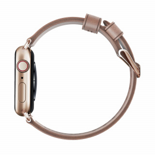 Bracelet Apple Watch Cuir 38/40mm Nomad Modern Nude/Doré
