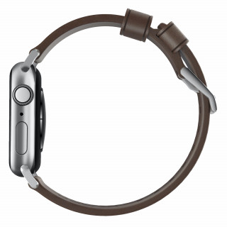 Bracelet Apple Watch Cuir 38/40mm Nomad Modern Marron/Argent