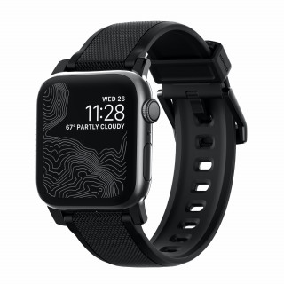 Bracelet Apple Watch 42/44mm Nomad Rugged Noir/Noir
