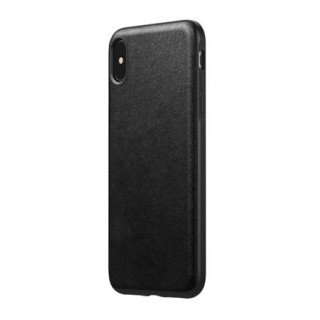Coque Cuir Apple iPhone XS Max Nomad Rugged Noir