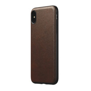 Coque Cuir Apple iPhone XS Max Nomad Rugged Marron