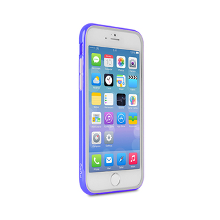 Coque Bumper Apple iPhone 6/6s Ultra Slim Puro Bleue