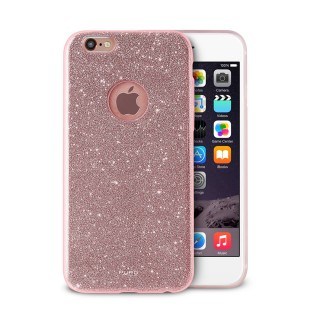 Coque Apple iPhone 6/6s Puro Shine Or Rose