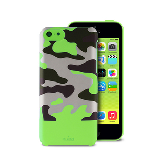 Coque Apple iPhone 5C Camouflage Verte Puro