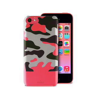 Coque Apple iPhone 5C Camouflage Rose Puro