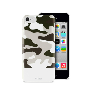 Coque Apple iPhone 5C Camouflage Blanche Puro