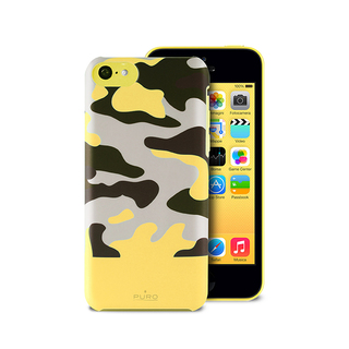 Coque Apple iPhone 5C Camouflage Jaune Puro
