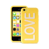 "Coque Apple iPhone 5C Night Cover ""LOVE"" Jaune Puro"