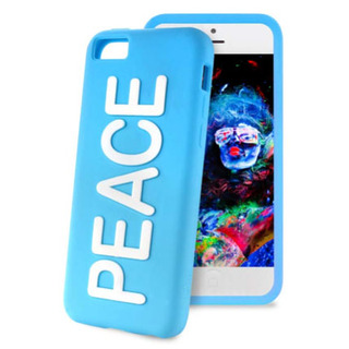 "Coque Apple iPhone 5C Night Cover ""PEACE"" Bleue Puro"