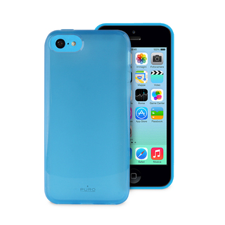 "Coque Apple iPhone 5C ""Plasma"" Bleue Puro"
