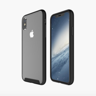 Coque Apple iPhone X Contour Noir QDOS