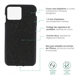 Coque Apple iPhone 11 Pro Max ECO QDOS Coal