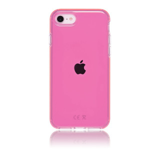 Coque Apple iPhone SE (2020)/8/7/6 Hybrid Neon QDOS Rose