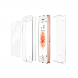 Coque iPhone 5/5S/SE & Protection Ecran Verre Fusion HD QDOS