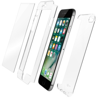 Coque iPhone 7/8 & Protection Ecran Verre Fusion HD QDOS