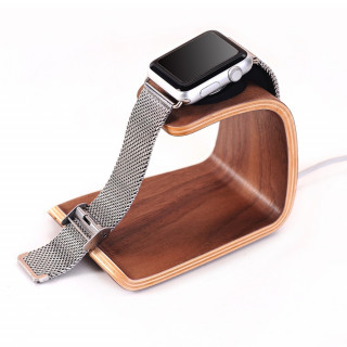 Support Bois Apple Watch Samdi Noyer
