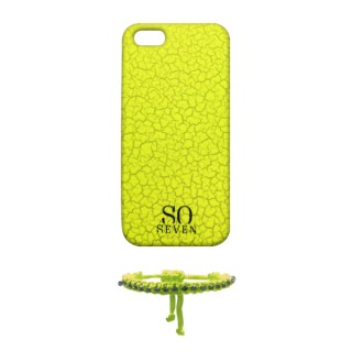 Coque Apple iPhone 5/5S/SE So Seven Fluo Craquelée Jaune