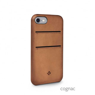 Coque iPhone SE (2020)/8/7 Twelve South Relaxed Cuir Cognac