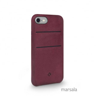 Coque iPhone SE (2020)/8/7 Twelve South Relaxed Cuir Marsala