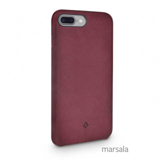 Coque iPhone 7 Plus/8 Plus Twelve South Relaxed Leather Marsala