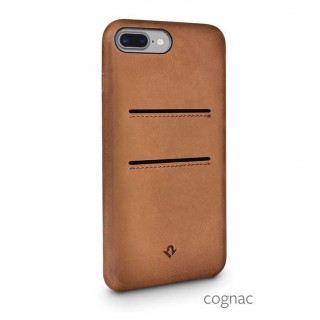 Coque iPhone 8 Plus/7 Plus Twelve South Relaxed Cuir Cognac