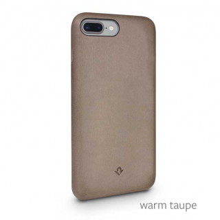Coque iPhone 8 Plus/7 Plus Twelve South Relaxed Cuir Taupe