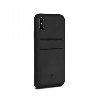 Coque iPhone X Twelve South Relaxed Cuir Noir