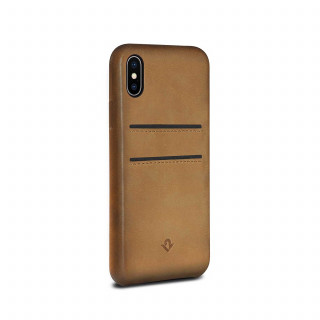 Coque iPhone X Twelve South Relaxed Cuir Cognac