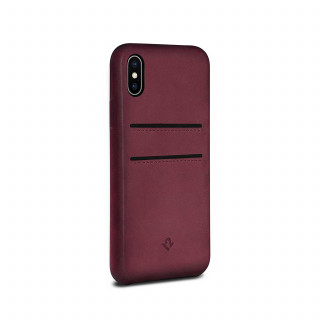 Coque iPhone X Twelve South Relaxed Cuir Marsala