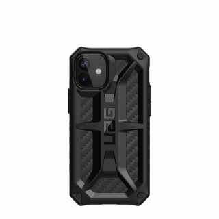 Coque Apple iPhone 12 Mini UAG Monarch Noir/Fibre Carbone